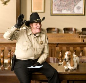 M.c. Gainey as Sheriff Rosco Coltrane in the 2005 Dukes of Hazzard movie